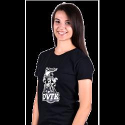DVTK női lovagos póló fekete