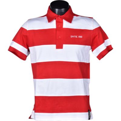 DVTK Special - piros-fehér keresztcsíkos galléros póló
