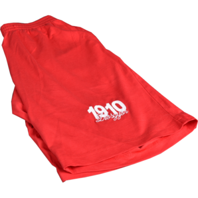 """""""1910 Diósgyőr"""" hímzett piros rövidnadrág"""