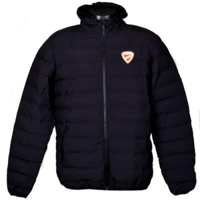Fekete szteppelt kabát