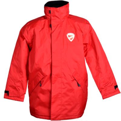 Piros téli kabát
