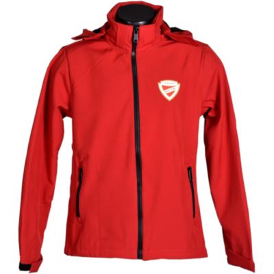 Piros softshell kabát