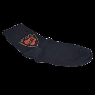Fekete zokni DVTK címerrel