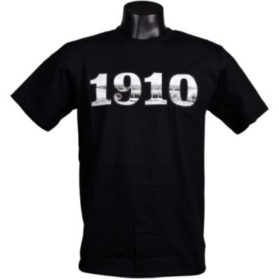 Felnőtt - 1910 felirat, DVTK Stadion fotóval - fekete póló