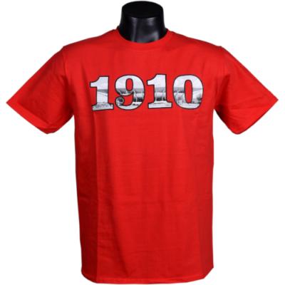 Felnőtt - 1910 felirat, DVTK Stadion fotóval - piros póló