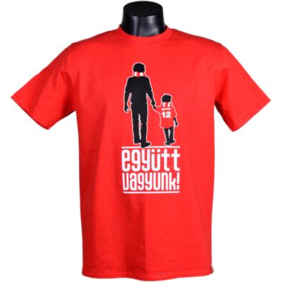 """Felnőtt - """"Együtt vagyunk"""" - piros póló"""