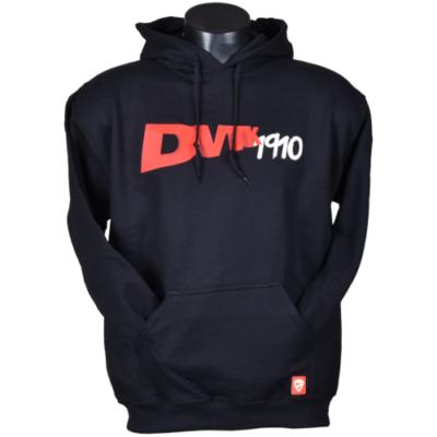 """""""DVTK 1910"""" feliratos pulóver - fekete"""