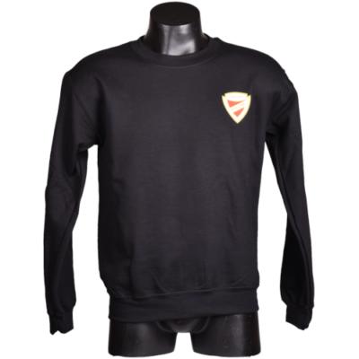 Fekete környakas címeres pulóver