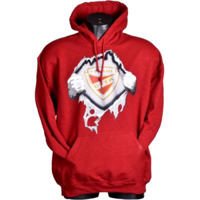 Tépős kapucnis pulóver - piros