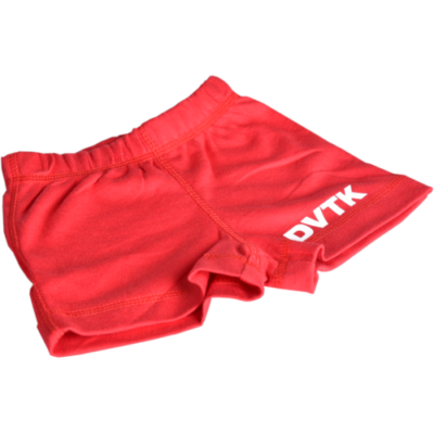 Piros bébi rövidnadrág DVTK felirattal