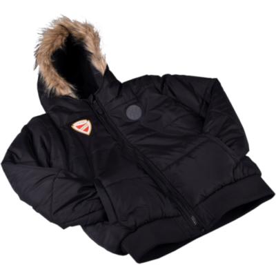 Gyerek téli kabát - fekete