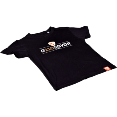 Gyerek - D110SGYŐR - fekete póló