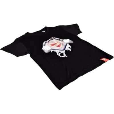 Gyerek tépős póló - fekete