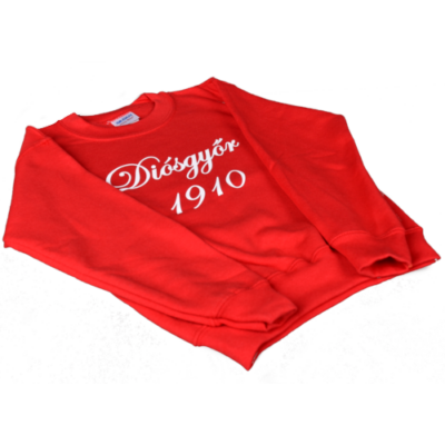 Piros gyerek környakas pulóver - Diósgyőr 1910