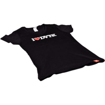Női - I ♥ DVTK - fekete póló