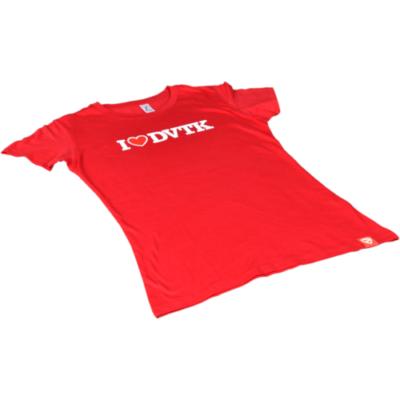 Női - I ♥ DVTK - környakas piros póló