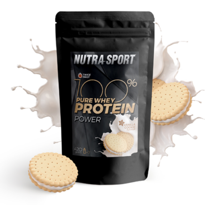 100% Pure Whey Protein Power 420gr - vanilla-süti
