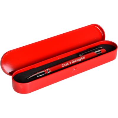 Piros fém dobozos tollkészlet