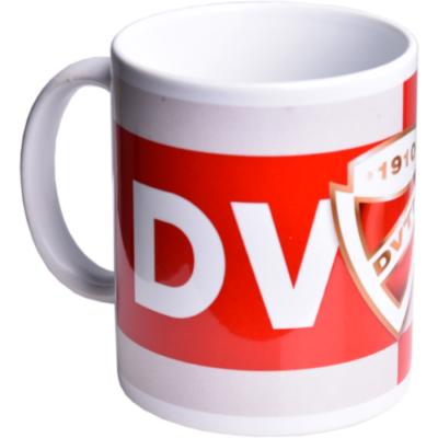 DVTK feliratos, címeres piros-fehér bögre