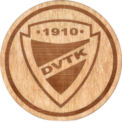 DVTK címeres fából készült poháralátét