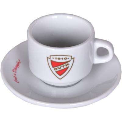 DVTK kávés csésze, tányérral