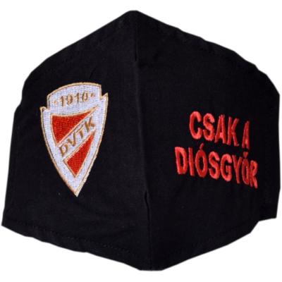 Hímzett gyerek DVTK címeres maszk - fekete