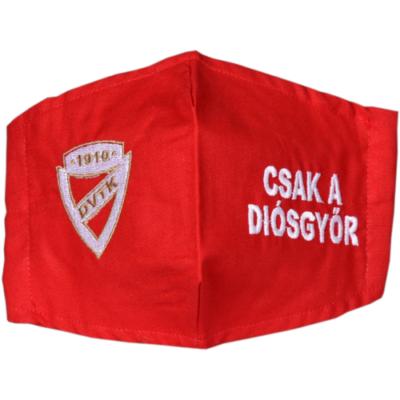 Hímzett DVTK címeres maszk - piros