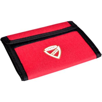 DVTK címeres, piros színű pénztárca